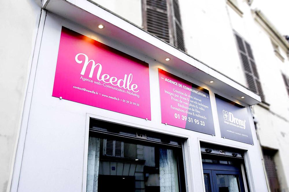 Deventure de l'agence de création de sites web Meedle/Drony